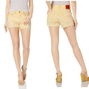 Levi's 501 Mellow Yellow Cut Off Jean Shorts 28